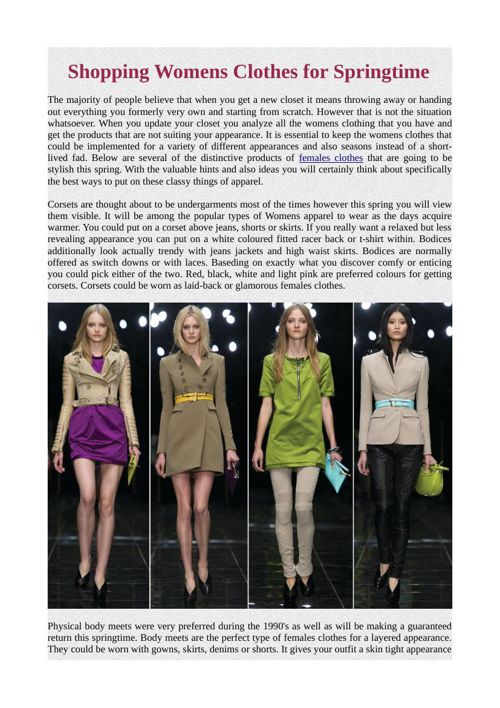 Shopping Womens Clothes for Springtime