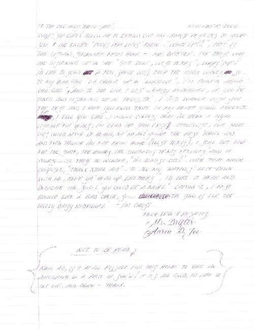 """Pocos Pero Locos """"Dedications From The Pen"""" Letters 2008: Vol. 1"""