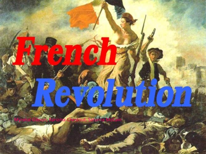 French Revolution childrensbook1st block Gibson,Chestnut,McCain