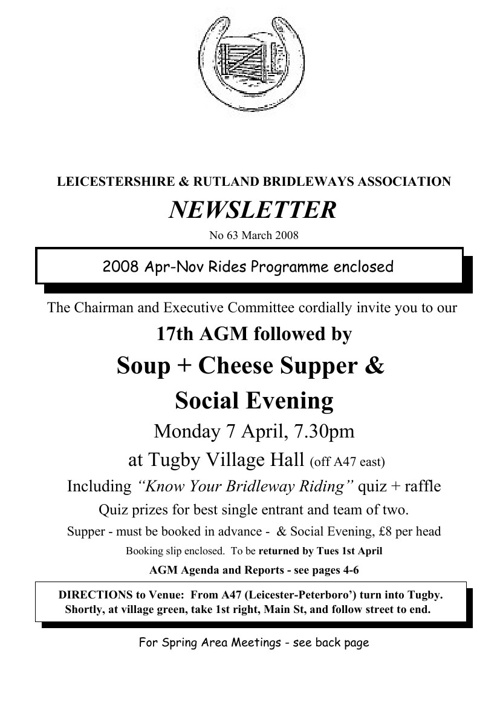 2008 Newsletters