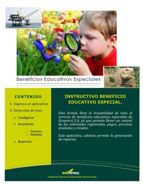 Beneficio educativo especial