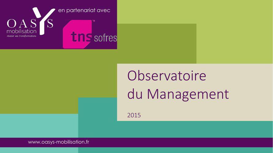 Rencontres d'Automne 2015-Observatoire du management 2015