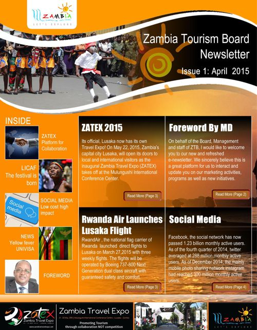 Newsletter - Zambia Tourism Board