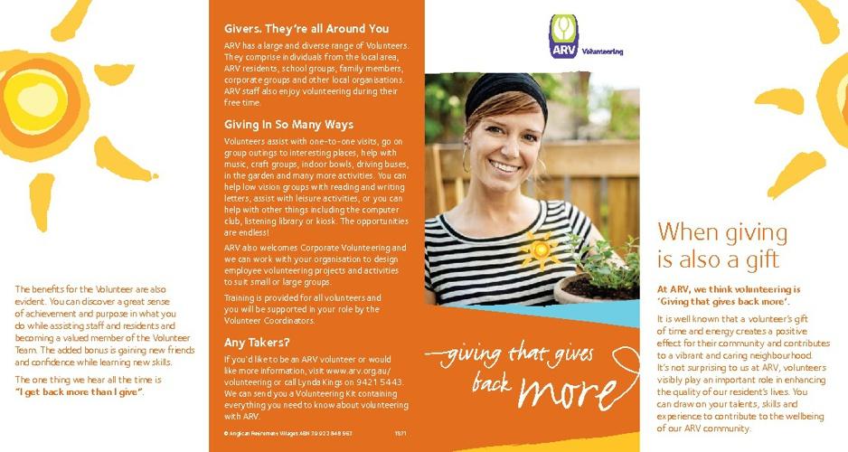 Volunteering brochure Sept 12