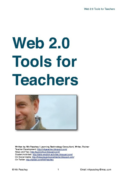 Web 2.0 tools for teacher