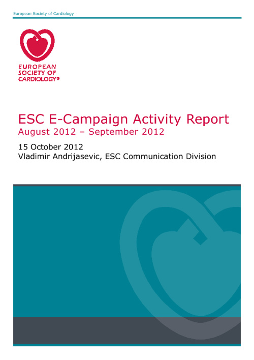 E-Campaign report: August-September 2012