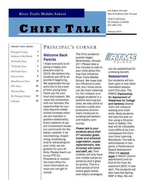 February Chieftalk 2015