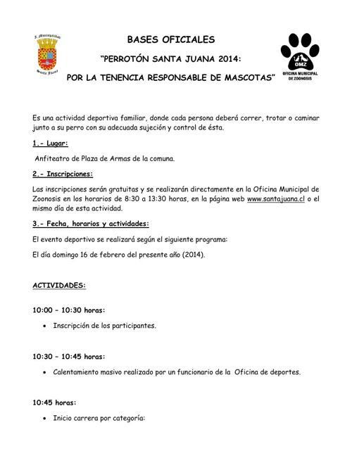 BASES OFICIALES PERROTÓN 2014
