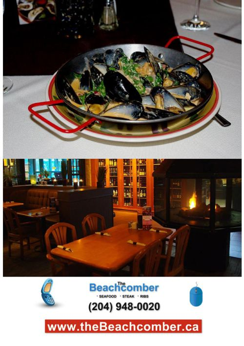 The Beachcomber Restaurant Menu Jan 2015