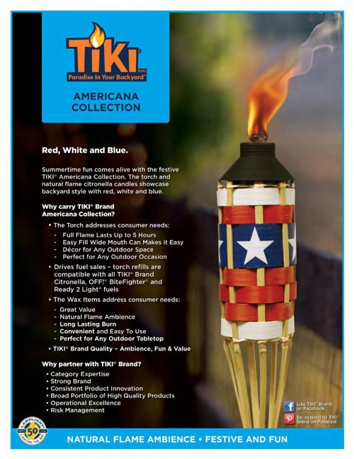2015 - TIKI® Americana Collection
