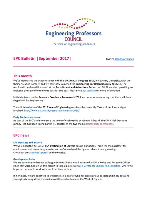 Engineering Professors' Council infoDigest 29-Sep-17