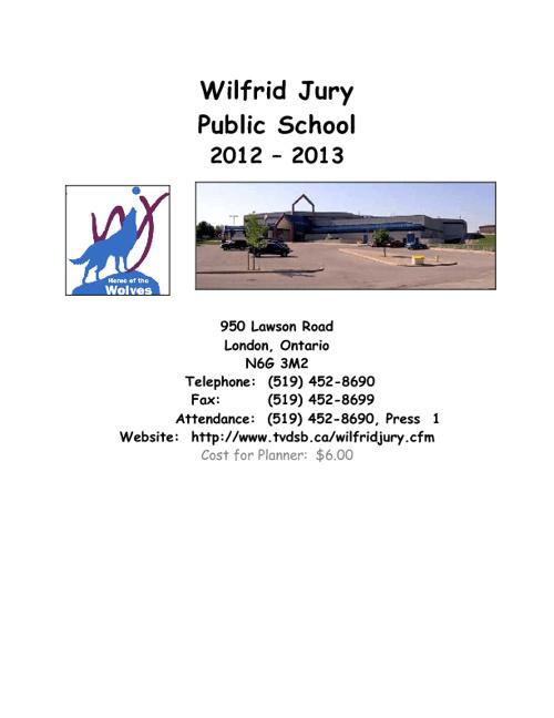 Student Planner 2012 - 2013