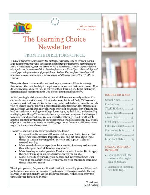 Fall TLC Newsletter