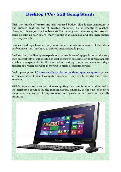 Desktop PCs - Still Going Sturdy