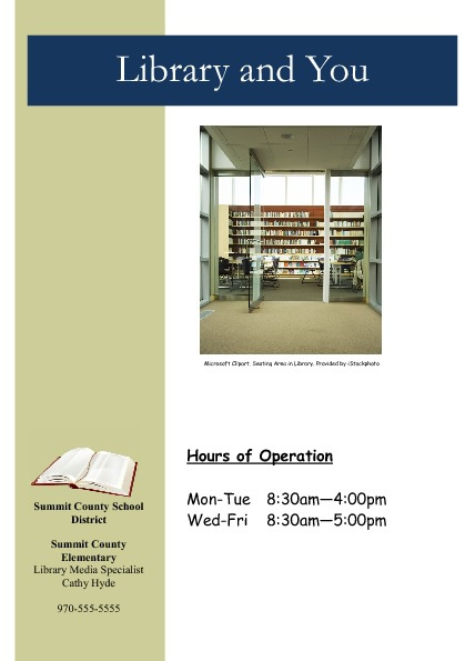 Library Marketing Brochure