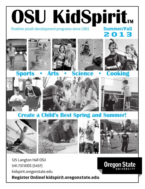 KidSpirit Summer/Fall 2013 Brochure