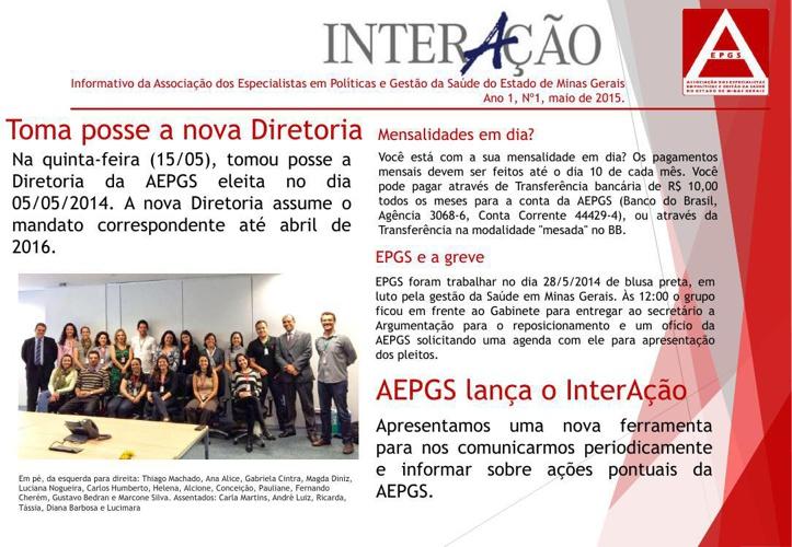Interação AEPGS - Ed. 1.junho.2014