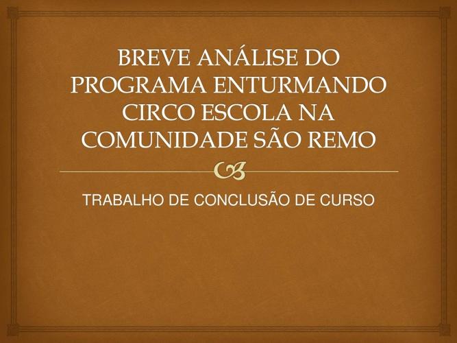 TRABALHO DE CONCLUSAO DE CURSO