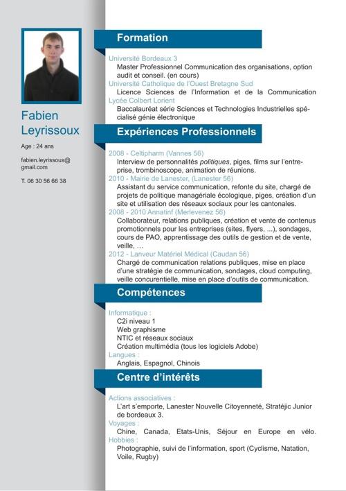 CV Fabien Leyrissoux