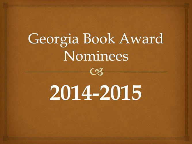 Georgia Book Award Nominees 2014-2015