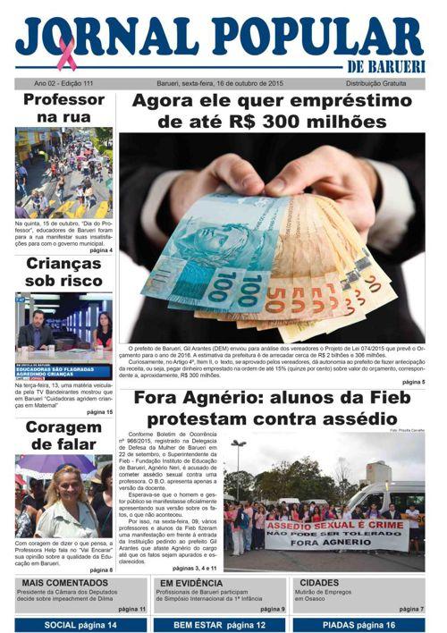 111ª edição do Jornal Popular de Barueri Confira!