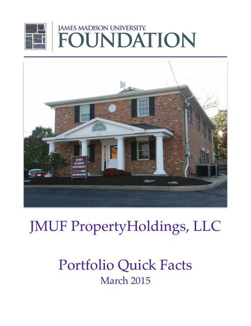 JMUF Real Estate Portfolio Quick Facts