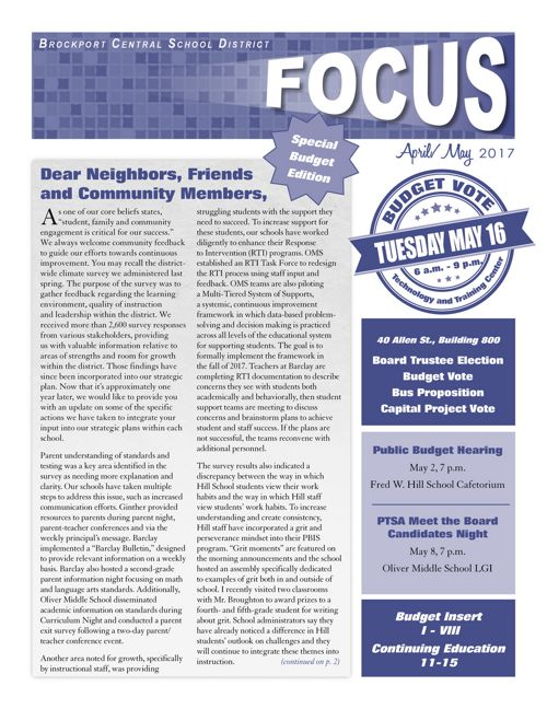 April/May 2017 Focus