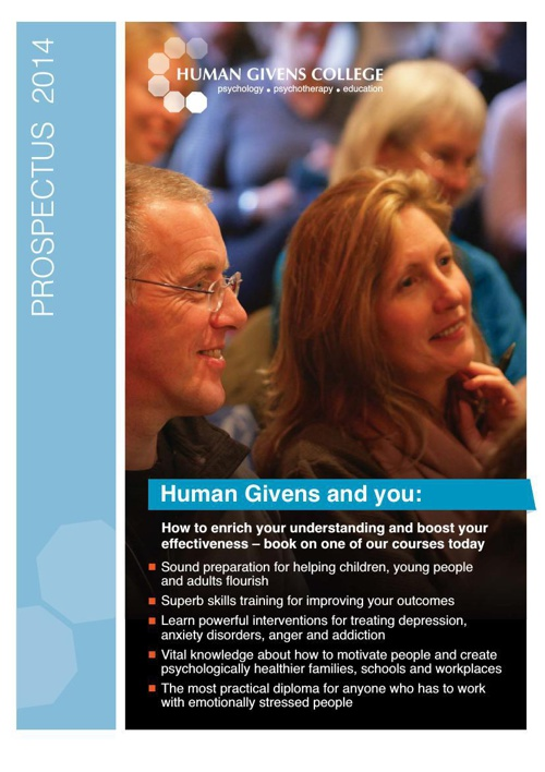 Human Givens College Prospectus 2014