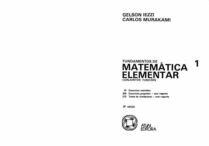 Fundamentos de Matemática Elementar (vol 1) - Conjuntos