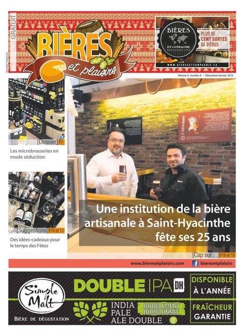 Bières et Plaisirs Volume 6 Numéro 6 - Décembre 2014