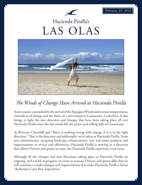 Hacienda Pinilla Newsletter - February