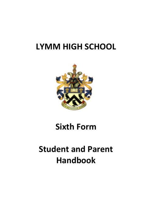 Sixth Form Parent Handbook