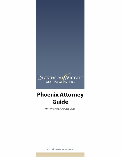 Attorney Summary Booklet