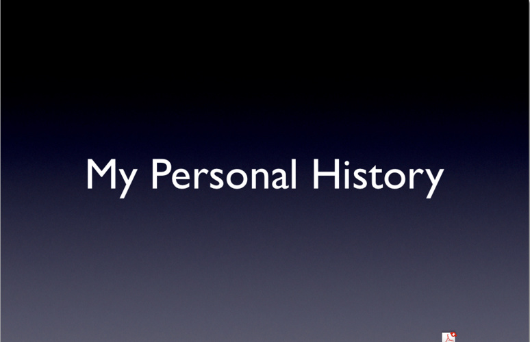 Personal History Flip