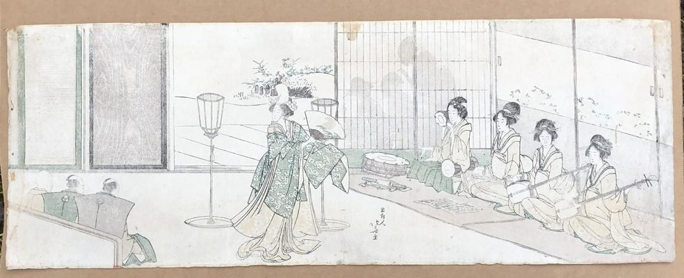 Live Entertainment at Nobleman's Mansion by Hokusai
