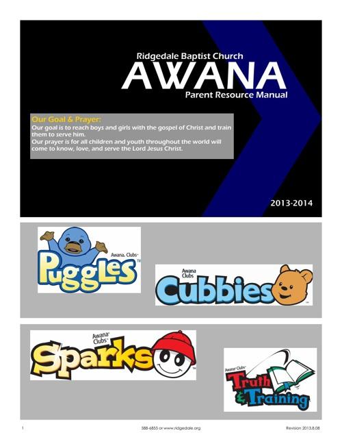 Awana 2014 Parent Manual