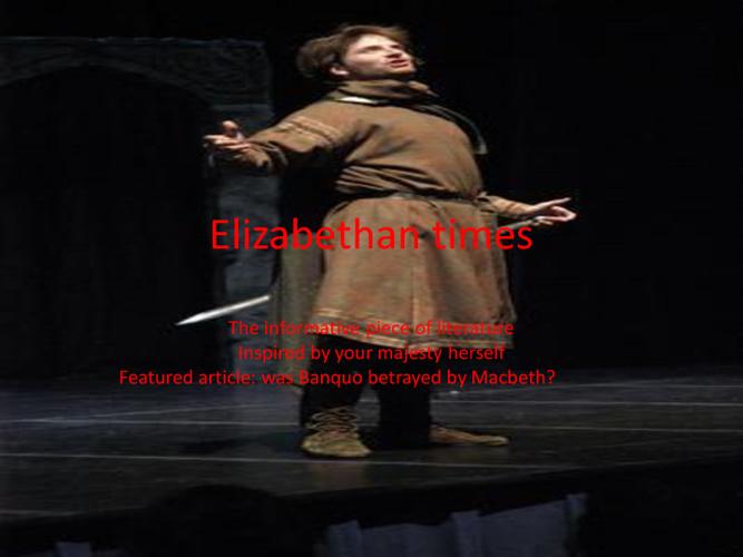 Elizabethean by Derek Eckermann