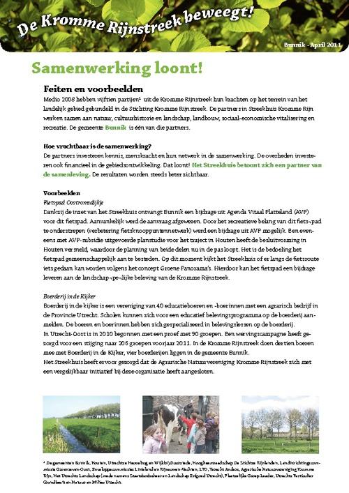 Facsheets Bunnik - april 2011