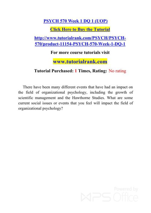 PSYCH 570 Potential Instructors / tutorialrank.com
