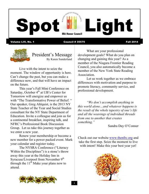 Spotlight Fall 2014
