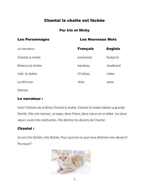 chantal la chatte iris + nicky