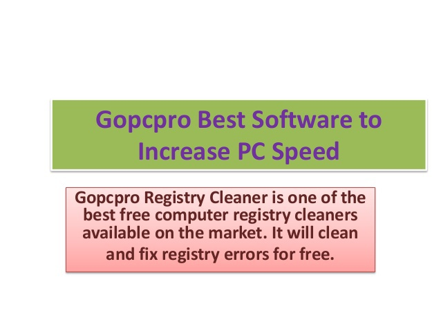 Gopcpro-registry-cleaner