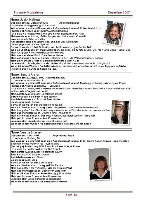 Musizeitung 2007 (Teil 2)
