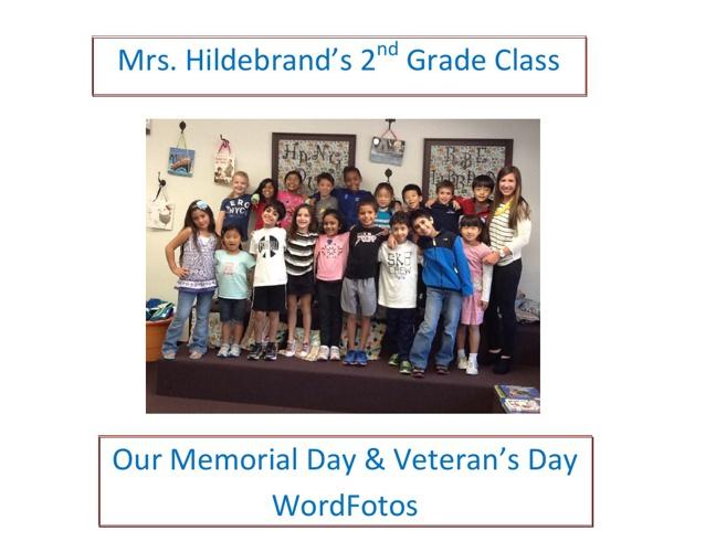 Mrs. Hildebrand's Memorial Day & Veteran's Day WordFotos