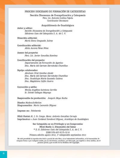 Formación Catequistas - Medio 2 - Saber – Catequista