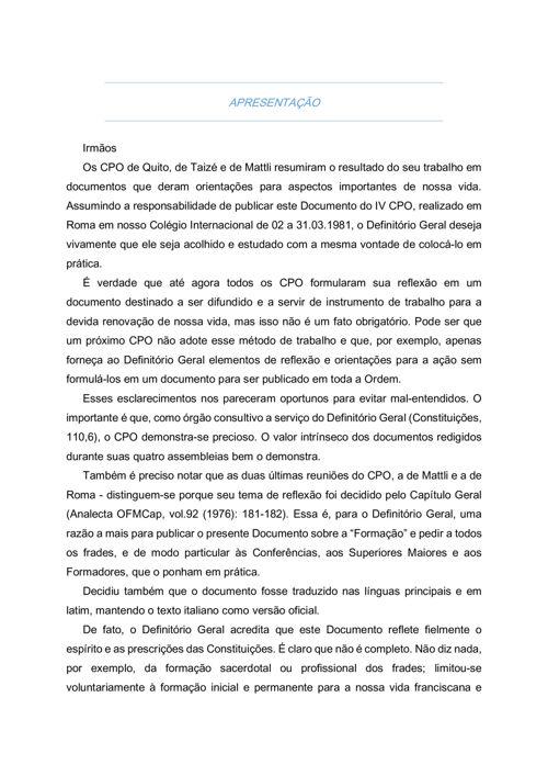 IV CONSELHO PLENARIO DA ORDEM