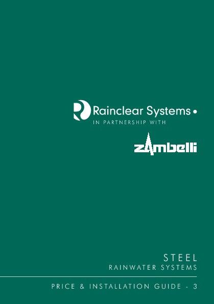 Rainclear - Zambelli Pricelist