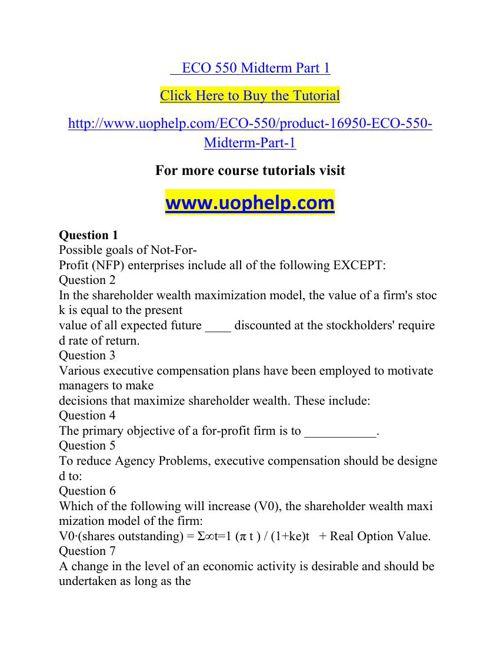 ECO 550 Squared Instruction Uophelp