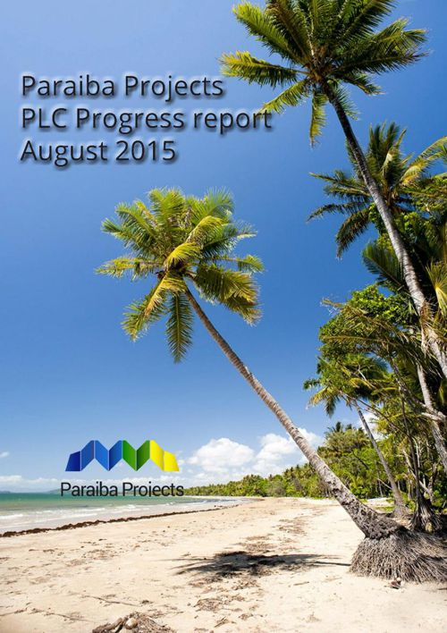 progress report August 2015 print