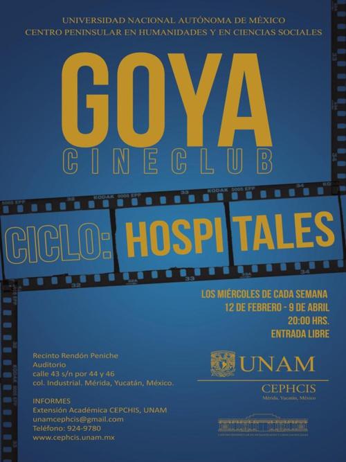 "Goya Cine Club ciclo ""Hospitales""  (Parte II)."